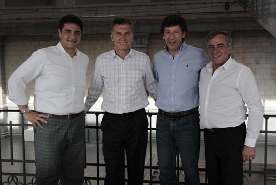 Los Macri, Gustavo Posse y Cariglino
