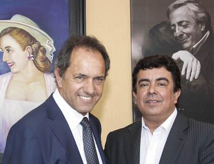 Daniel Scioli y Fernando Espinoza