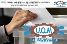 Unrna-eleccions ELECCIONES UOM