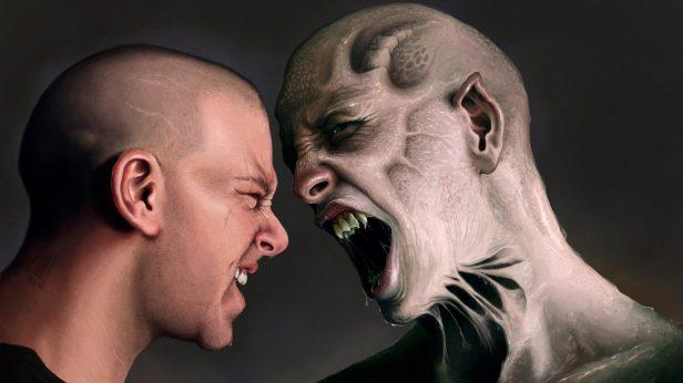 Man Screaming Monster Photos
